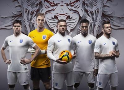 England 2014 World Cup Home and Away Kits