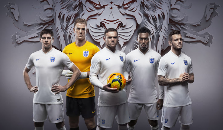 England 2014 World Cup Home and Away Kits